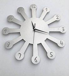 Hodiny - Nerezové nástenné hodiny - 11238951_