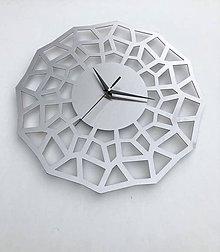 Hodiny - Nerezové dizajnové nástenné hodiny - 11238958_