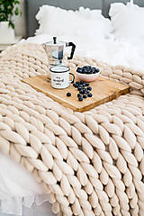 Úžitkový textil - Mirtillo merino deka GRANDE (Béžová) - 11238869_