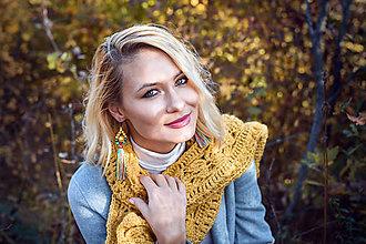 Náušnice - Farebné strapcové náušnice dlhé / tassel earrings - 11241824_