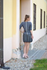 Sukne - Stripes grey - 11240368_
