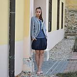 Sukne - Blue with stripe - 11240387_