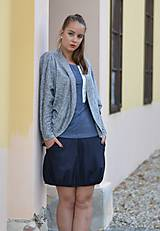 Sukne - Blue with stripe - 11240388_