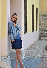 Sukne - Blue with stripe - 11240389_