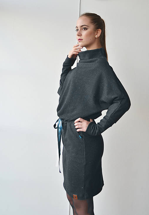 Šaty - Contrast (denim) - 11240213_