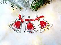 Dekorácie - zvonček ( červený) - 11241528_