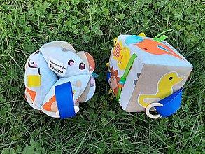Hračky - Sada - montessori kocka a lopta. - 11242374_