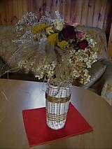 Nádoby - Váza z pedigu na rezané kvety - 11242591_