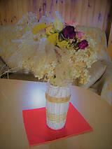Nádoby - Váza z pedigu na rezané kvety - 11242603_