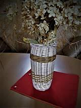 Nádoby - Váza z pedigu na rezané kvety - 11242605_