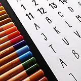 Hračky - NÁLEPKY . písmena + číslice . černobílé - 11239707_