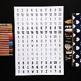 Hračky - NÁLEPKY . písmena + číslice . černobílé - 11239713_