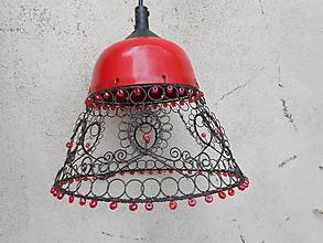 Svietidlá a sviečky - Folklór a orient - drátovaný lustr - 11244219_