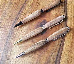 Papiernictvo - drevené perá ručne tvorené - 11244018_