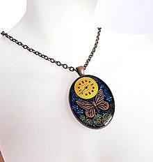 Náhrdelníky - Steampunk staroměděný náhrdelník - 11243158_