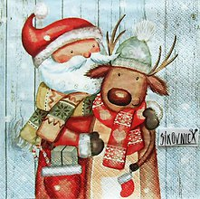Papier - S1454 - Servítky - Vianoce, snehuliak, sob - 11243155_