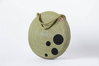 Kabelky - Kabelka kulatá olivová - 11244993_