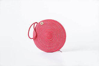 Kabelky - Kabelka kulatá červená - 11245030_