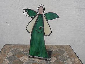 Svietidlá a sviečky - Anjelik s minerálom - svietnik - 11245055_