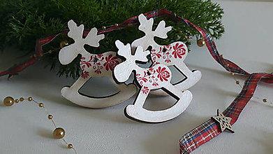 Dekorácie - Vianočný sobík, vianočná ozdoba - folk - 11243699_