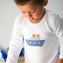 Detské oblečenie - body PARNÍK (dlhý/krátky rukáv) - 11245439_