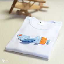Detské oblečenie - body LIETADIELKO (dlhý/krátky rukáv) - 11245579_