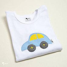 Detské oblečenie - body AUTO (dlhý/krátky rukáv) - 11245700_