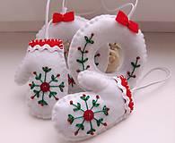Dekorácie - Vianočné ozdoby s výšivkou - 11244684_