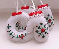 Dekorácie - Vianočné ozdoby s výšivkou - 11244685_