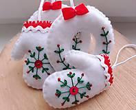 Dekorácie - Vianočné ozdoby s výšivkou - 11244689_