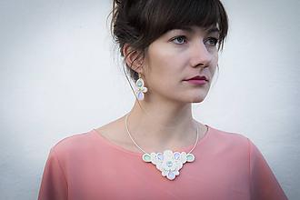Sady šperkov - Pastelová sada pre nevestu - wedding soutache - 11244810_