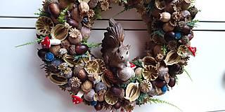 Dekorácie - Veniec makový...veverička - 11245266_