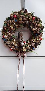 Dekorácie - Veniec makový...veverička - 11245284_