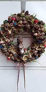 Dekorácie - Veniec makový...veverička - 11245291_