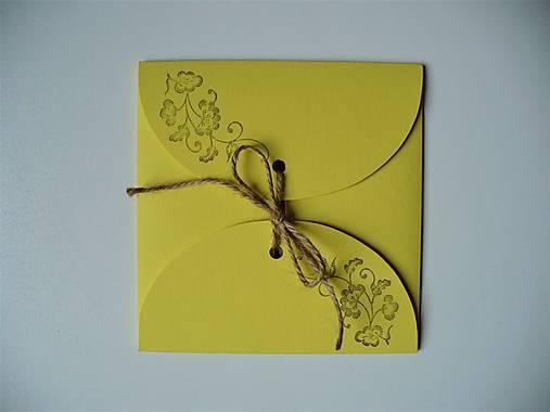žltý obal na CD/ ornament