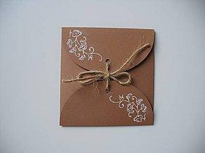 Papiernictvo - prírodný obal na CD/ ornament - 11243487_