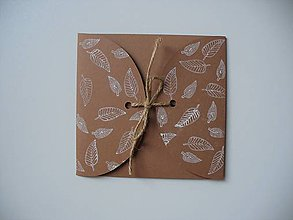 Papiernictvo - prírodný obal na CD/ listy - 11243525_