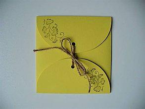 Papiernictvo - žltý obal na CD/ ornament - 11244131_