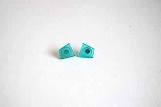 Náušnice - Napichovacie náušnice zo živice - Blue 1 - 11245320_