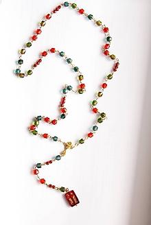 Iné šperky - Farebný ruženec - bohemian - 11245910_