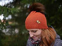 Čiapky - Dámska pletená čiapka PREMIUM - 11244649_