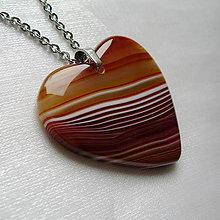Náhrdelníky - Achátové srdce - 11244924_