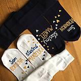 """Obuv - Maľované ponožky s nápisom: """"Som ... šťastný manžel/manželka"""" - 11245885_"""