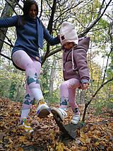 Nohavice - Pink old days detské legíny 80-164 - 11245621_