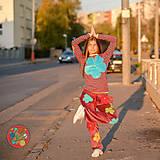 Nohavice - Origo teplakošky kvety - 11244673_