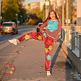 Nohavice - Origo teplakošky kvety - 11244676_