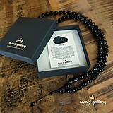 Náhrdelníky - Pánsky náhrdelník Mala – ONYX / 8 mm - 11245510_