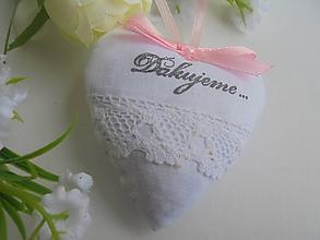 Darčeky pre svadobčanov - Srdiečko do dlane-svadobné - 11242961_