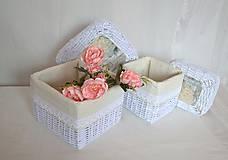 Košíky - Krabičky s poklopom MIRINA / sada - 11243991_
