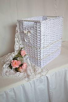 Košíky - Odkladací box s vyšívanou madeirou / skladom - 11243906_